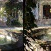 Iphone SE versus Pixel 2 XL fountain example