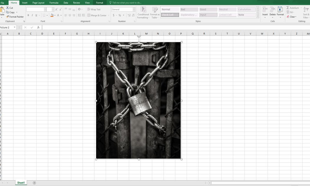 Fișier Excel blocat