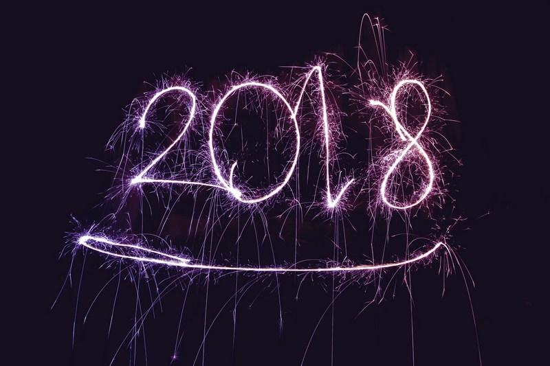 2018 scris cu artificii