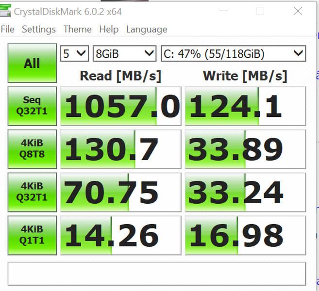 măsuratori Surface GO SSD
