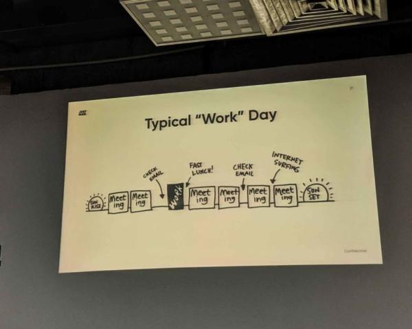 o zi de munca tipica