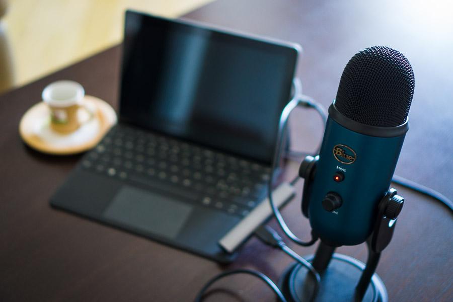 microphone Blue Yeti langa surface go