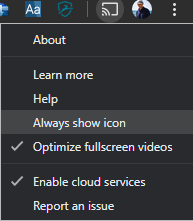 Always show icon for casting