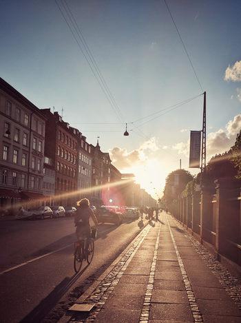 Biciclete apus Copenhaga