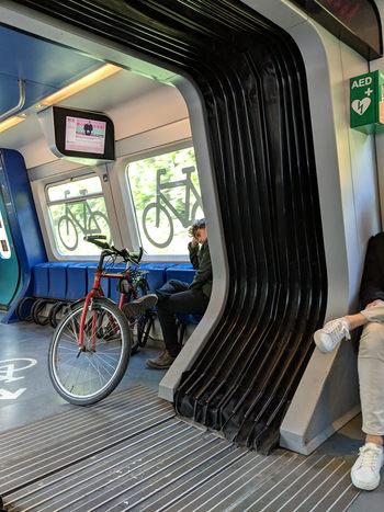 bicicleta in tren Copenhaga