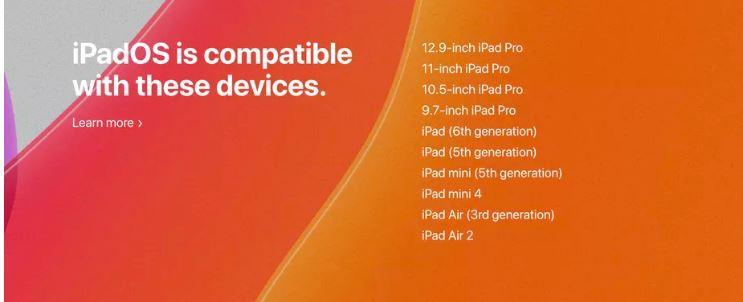 dispozitive compatibile cu ipadOS