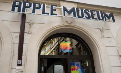 intrare Apple museum in Praga