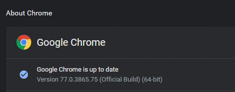 Verifica versiunea de Chrome