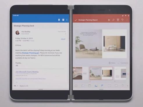 Surface Duo multitasking