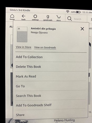 Adauga la colectie Kindle
