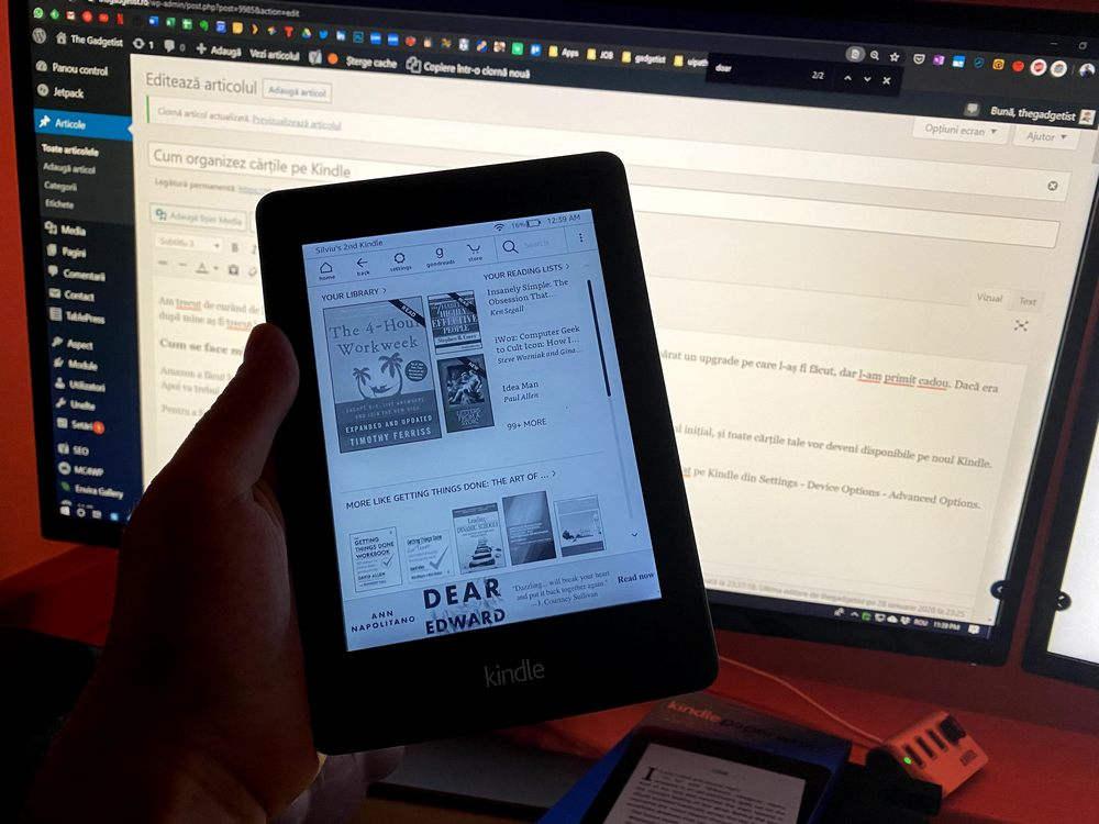 Cum organizez cartile pe Kindle
