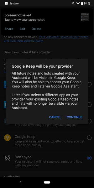 Setări Keep Google Assistant3