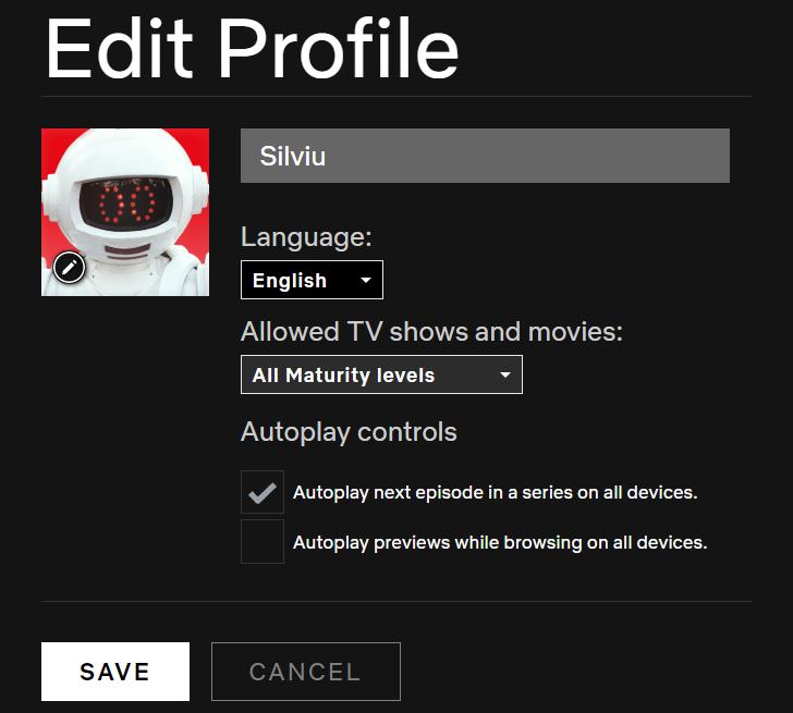 dezactiveaza preview pe Netflix