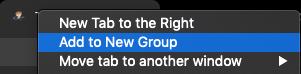 Adaugă la grup nou tab-uri Chrome