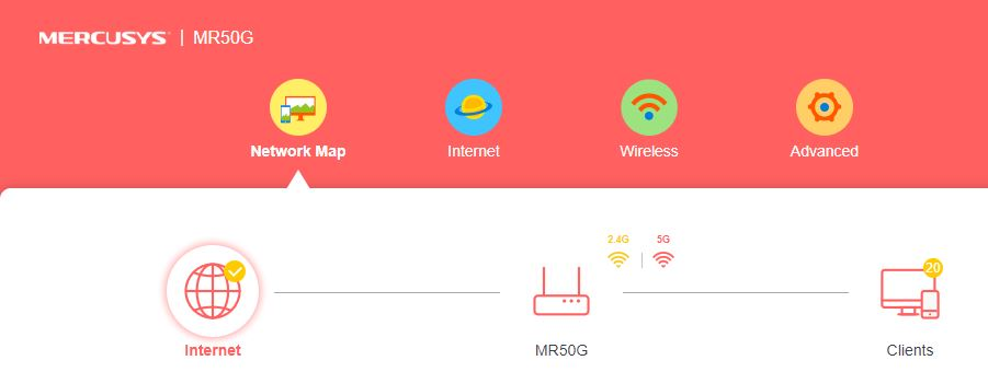 interfata Mercusys MR50G