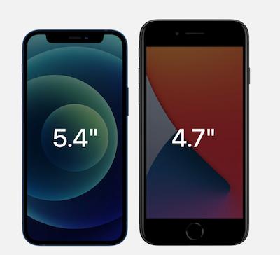 iPhone 12 mini vs iPhone SE 2020