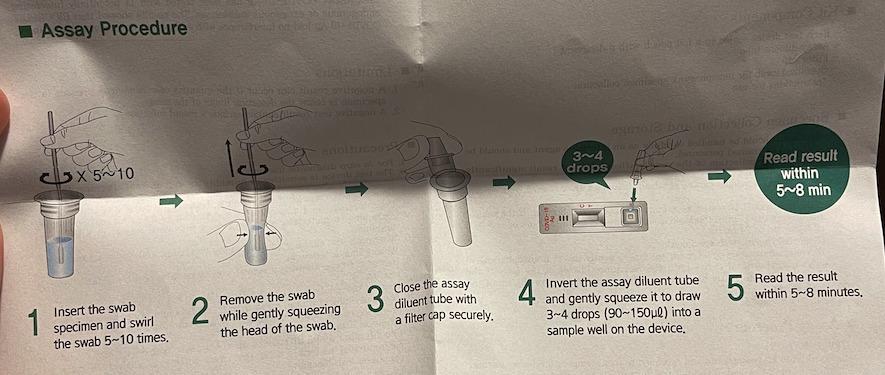 amestec test rapid covid