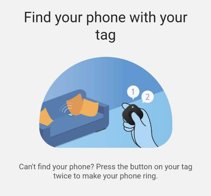 gaseste telefonul Samsung cu smartTag