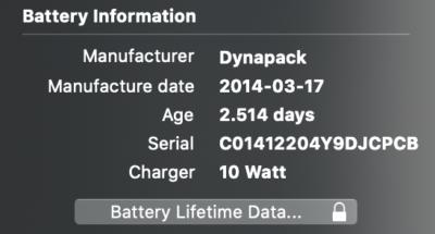 informatii model baterie iPad