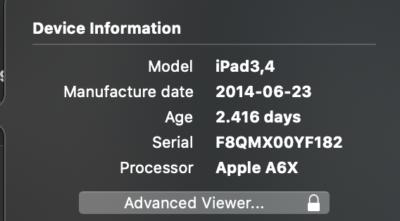 informatii model iPad